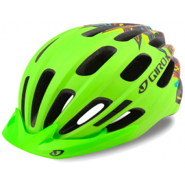 GIRO HALE YOUTH/JUNIOR HELMET 2019: MATTE LIME UNISIZE 50-57CM